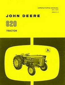 John Deere Model 820 Tractor Operators Manual Jd