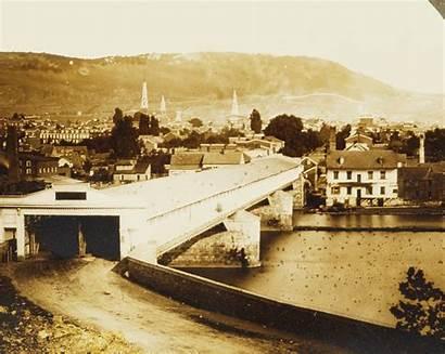 Covered Bridge River Spanning 1854 Schuylkill Pennsylvania