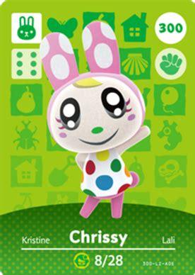 Happy home designer series, and pokkén tournament. Chrissy (Animal Crossing Cards - Series 3) amiibo card - amiibo life - The Unofficial amiibo ...