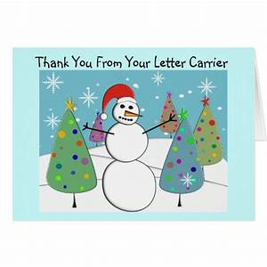 Letter carrier thank you cards zazzle for Letter carrier thank you cards