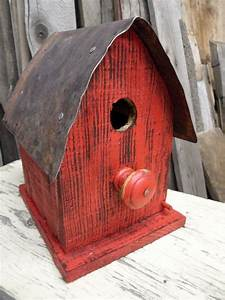 Small, Barn, Birdhouse, Made, With, Reclaimed, Wood, By