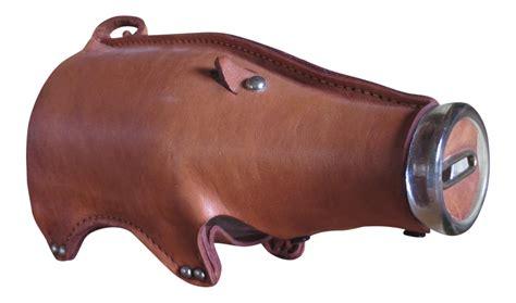 vintage ottomans for vintage leather piggy bank chairish 6854