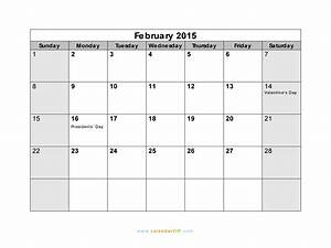 search results for calendar month february 2015 printable With calendar template for february 2015