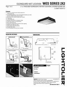 Cleanguard Wet Location Wes Series 2x2 Manuals