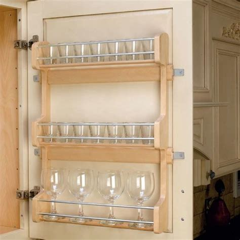 rv kitchen cabinet organizers rev a shelf door mount spice rack 21 quot wood 4sr 21 5033