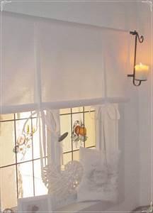 Raffrollo Landhaus Shabby : gardine raffrollo weiss 80 100 120 140 160 landhaus shabby ~ Watch28wear.com Haus und Dekorationen