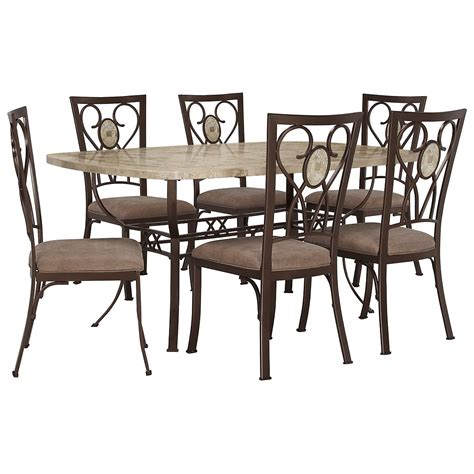 brookside rect table 4 chairs