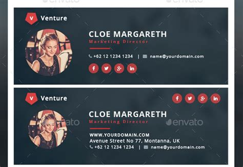 awesome email signature psd templates web graphic