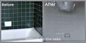 refinishing tile our miracle method cottage bath With bathroom tile paint kit