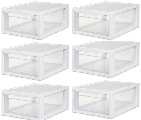 Drawer Containers by 6 Sterilite 23608006 Medium Modular Stacking Storage