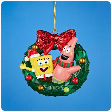 spongebob squarepants resin wreath ornament kurt s adler spongebob squarepants - Spongebob Squarepants Christmas Ornaments