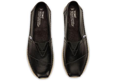 Toms Black Full Grain Leather Men's Classics In
