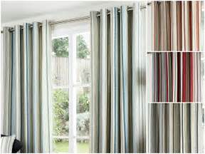 Vertical Striped Curtains Uk by Vertical Stripes Lined Pair Curtains Eyelet Ring Top Ready