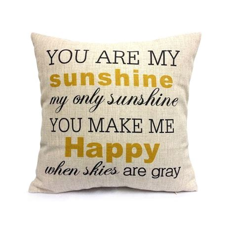 You Are My Sunshine Decorative Pillowcase  Mission To Save