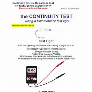 Continuity Testing Test Light Vs Multimeter How To