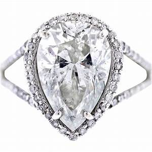 white gold pear shaped diamond halo style pave engagement ring With pear diamond wedding ring