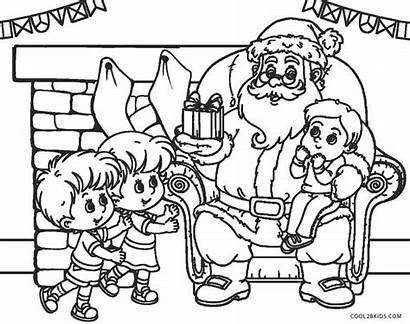 Coloring Pages Santa Colouring Rated Claus Christmas