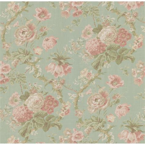 Vintage Floral Wallpaper For Sale