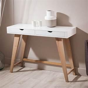 Console En Bois : console en bois avec 2 tiroirs pablo kaligrafik meubles pinterest ps et consoles ~ Teatrodelosmanantiales.com Idées de Décoration