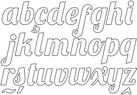 alfabeto cursivo moldes para imprimir