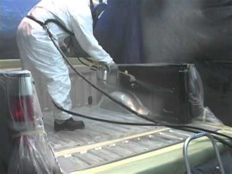 pressure sprayed  bedliner application youtube
