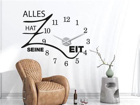 Große Uhr Wand by Wandtattoo Uhren Die Kreative Design Wanduhr Klebeheld 174