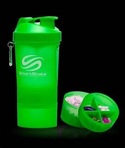Smart Shake 3 in 1 Shaker Cup Protein Blender Mixer Bottle