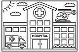 Hospital Coloring Kolorowanki Designed Sheets Well Drawing Craft Druku Traktory A4 Coloringpagesfortoddlers Drawings Awards Books Zapisano Cartoon sketch template