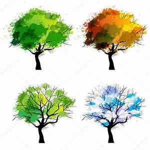 Bäume Umpflanzen Jahreszeit : b ume der vier jahreszeiten stockvektor ennessy 28792793 ~ Orissabook.com Haus und Dekorationen