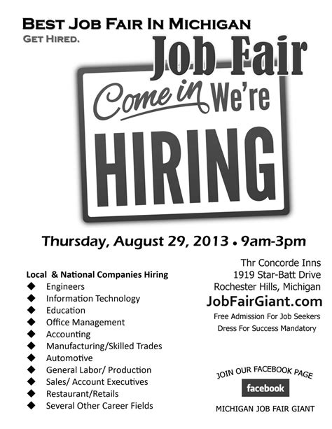 jobfairgiantcom blog  whos hiring  michigan job