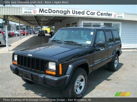 2000 jeep cherokee black black 2000 jeep cherokee sport 4x4 agate black