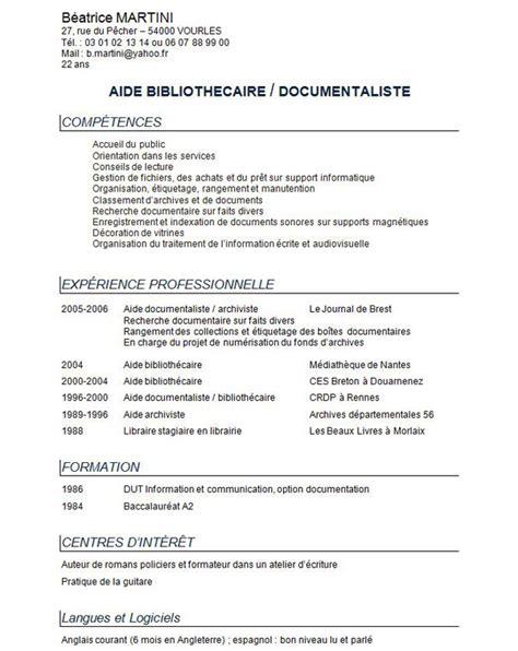 Exemple De Cv Simple Gratuit by T 233 L 233 Charger Cv Exemple 5 T 233 L 233 Charger Des Projets Et