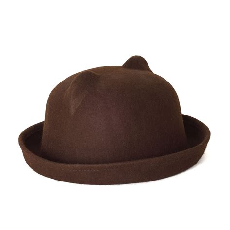 cat ear design bowler hat ebay