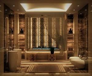 salle de bain de luxe de design opulent et exotique With salle de bain design avec décoration patisserie orientale