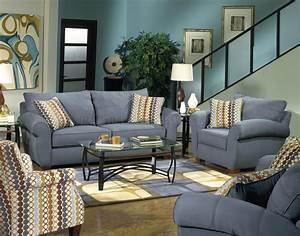 Jackson, Furniture, Modern, Bluestone, Fabric, Serenza, Sofa, Set