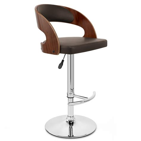 chaise de bar bois chaise de bar bois chrome noyer monde du tabouret