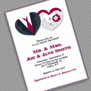 free pdf download hearts couple shower invitation www With couples wedding shower invitations templates free