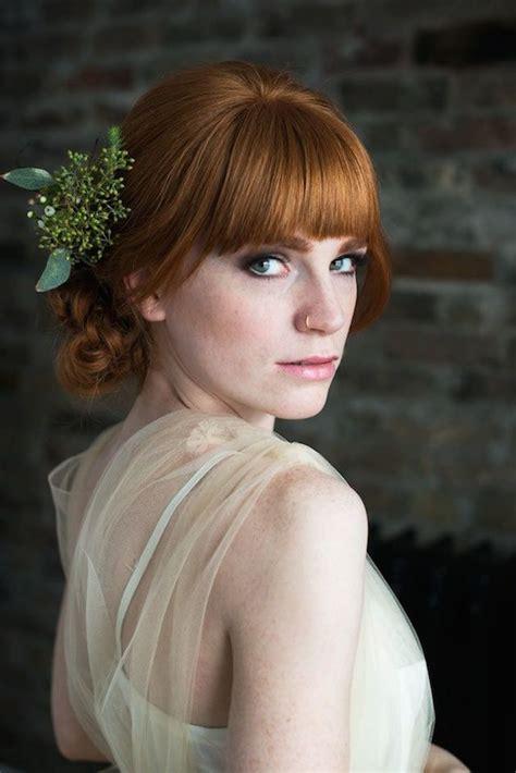 brides  bangs wedding hair inspiration bridal musings