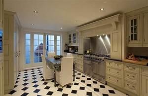 carrelage cuisine en noir et blanc 22 interieurs inspirants With carrelage cuisine noir et blanc