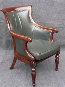 william, 4th, style, leather, library, chair