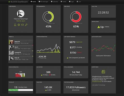 Admin Site Template Black by 30 Best Bootstrap Templates For Free Download Templateflip