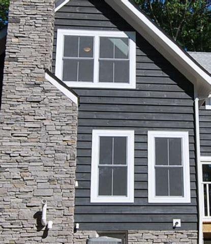 slate gray semi solid stain siding home   semi