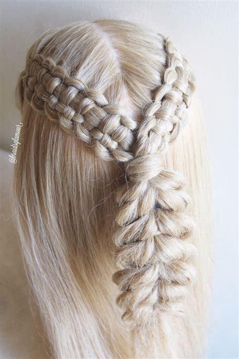 lace zipper braids  pull  braid full tutorial