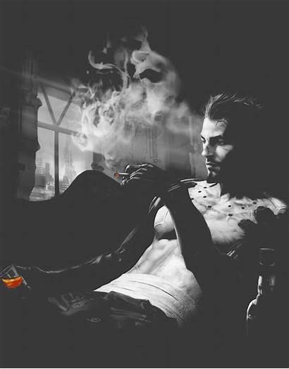 Smoking Artwork Jensen Adam Human Revolution Deus
