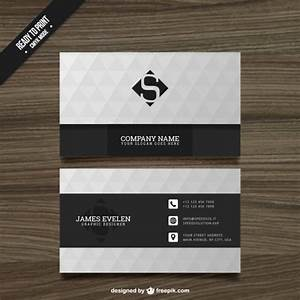 Black And White Cards White And Black Business Card Vector Free Download