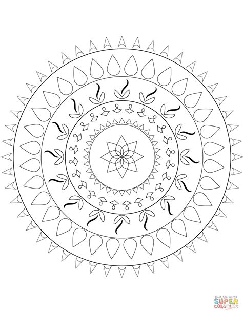 simple mandala coloring page  printable coloring pages