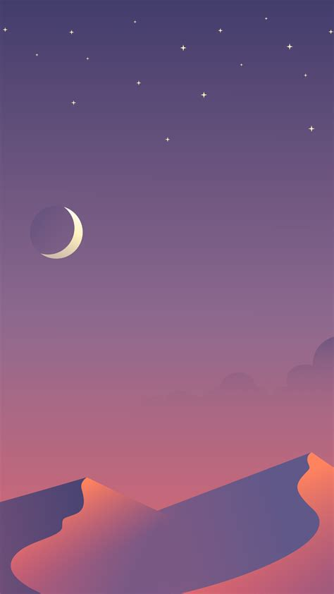 desert nights moon  minimalism hd  wallpaper