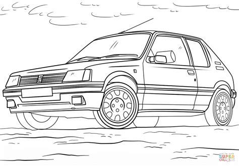 Coloriage - Peugeot 205   Coloriages à imprimer gratuits