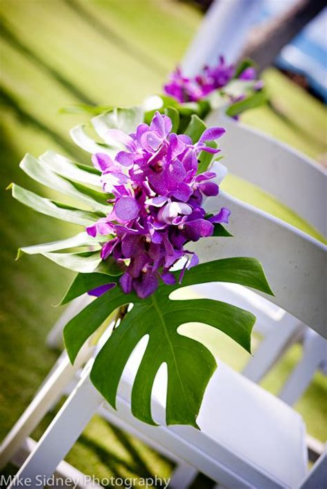 orchid maui wedding chair flowers maui wedding decor