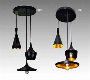 Suspension 3 Lampes : noir suspension lampe chandelier light 3 lampes haut ~ Melissatoandfro.com Idées de Décoration